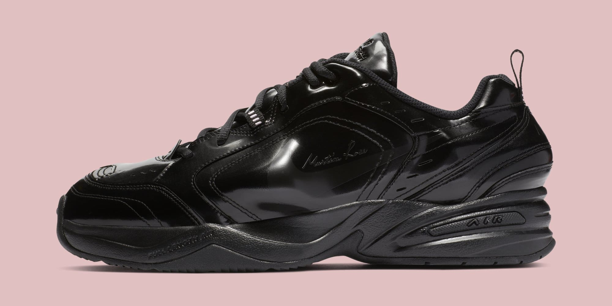 Martine Rose x Nike Air Monarch 4 'Black' AT3147-001 (Lateral)