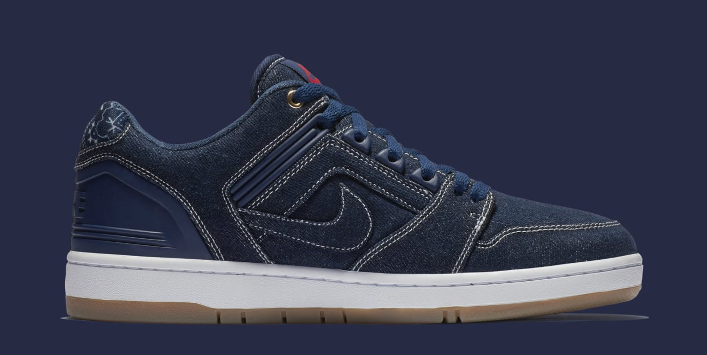 Nike SB Air Force 2 Low '2pac' AO0298-441 (Medial)