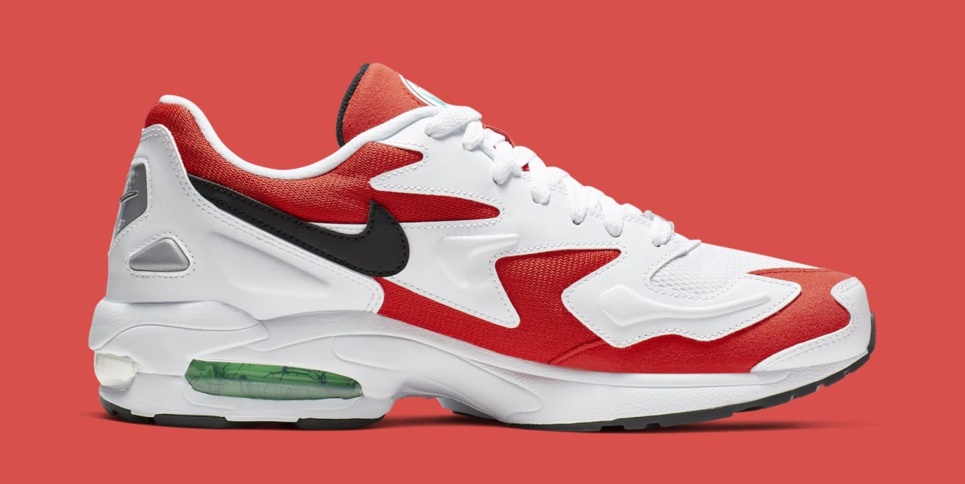 Nike Air Max2 Light 'White/Black-Habanero Red-Cool Grey' AO1741-101 (Medial)