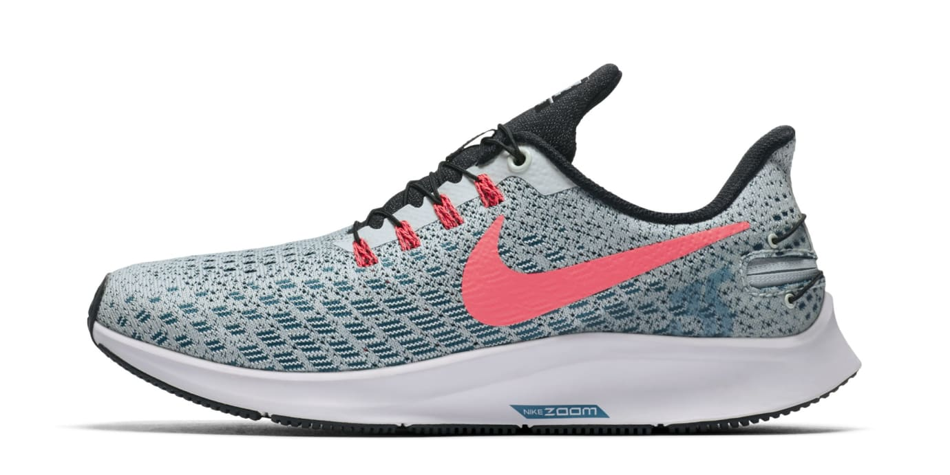 check out 55801 42232 Image via Nike Nike Air Zoom Pegasus 35 Flyease  Barely Grey Geode  Teal Black Hot