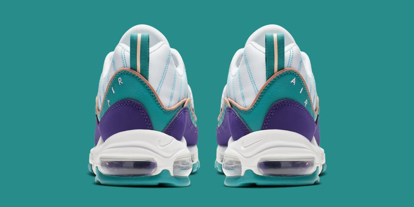 e8145a151f3fa Image via Nike Nike Air Max 98 'Court Purple/Terra Blush-Spirit Teal'  640744-