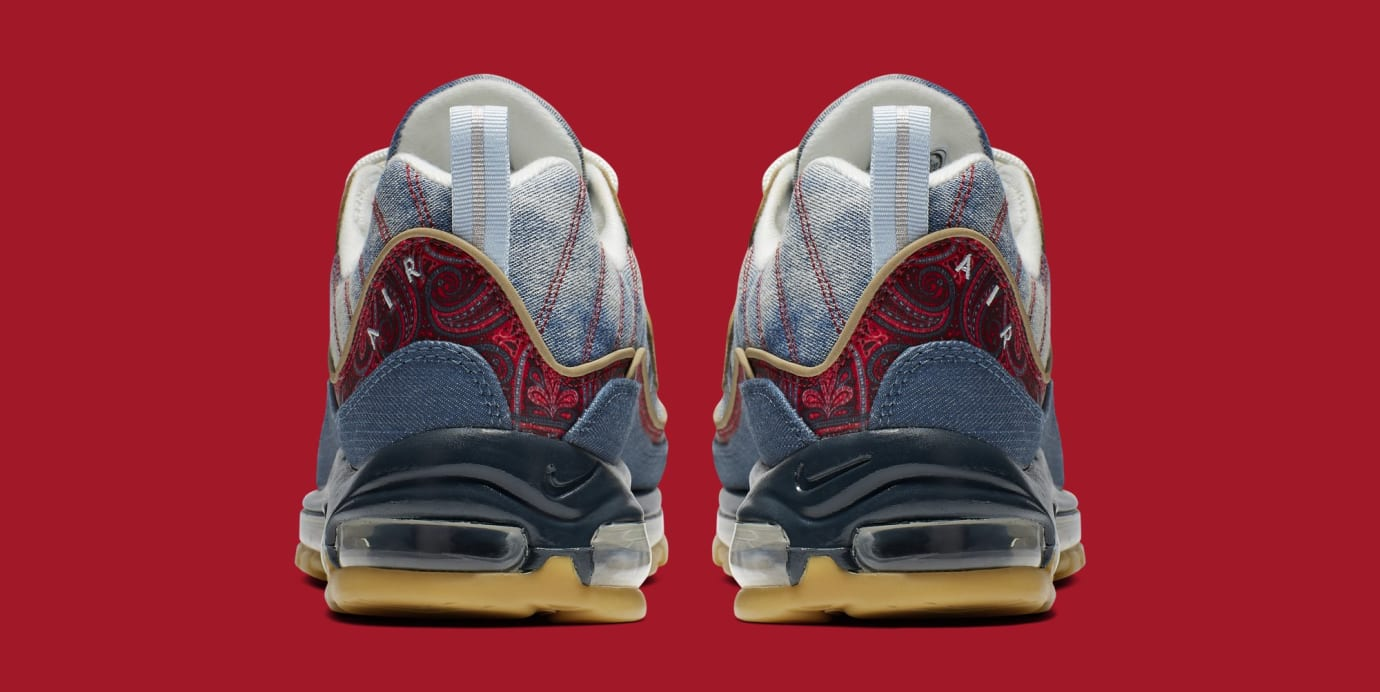 Nike Air Max 98 'Wild West' Light Armory/University Red BV6045-400 (Heel)