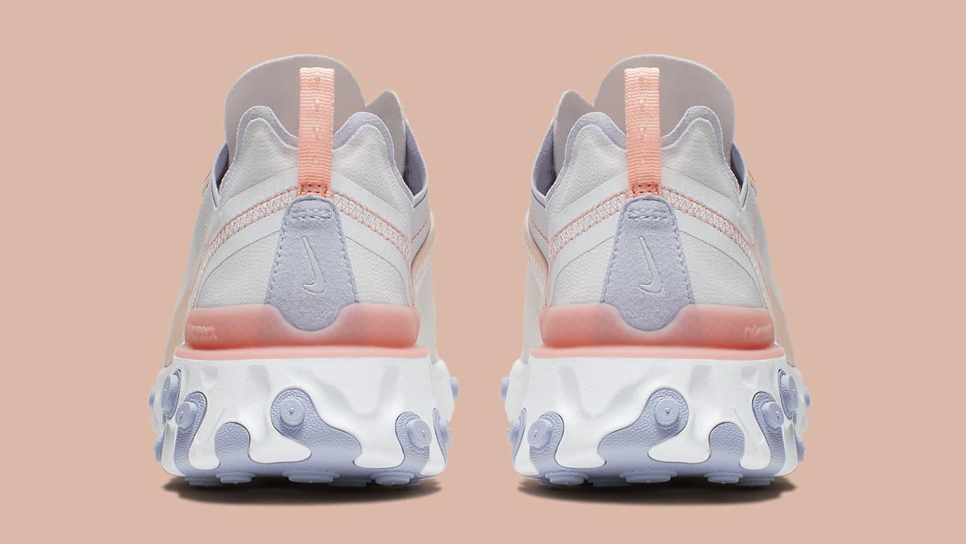 Nike Women's React Element 55 'Pale Pink' BQ2728-601 Heel