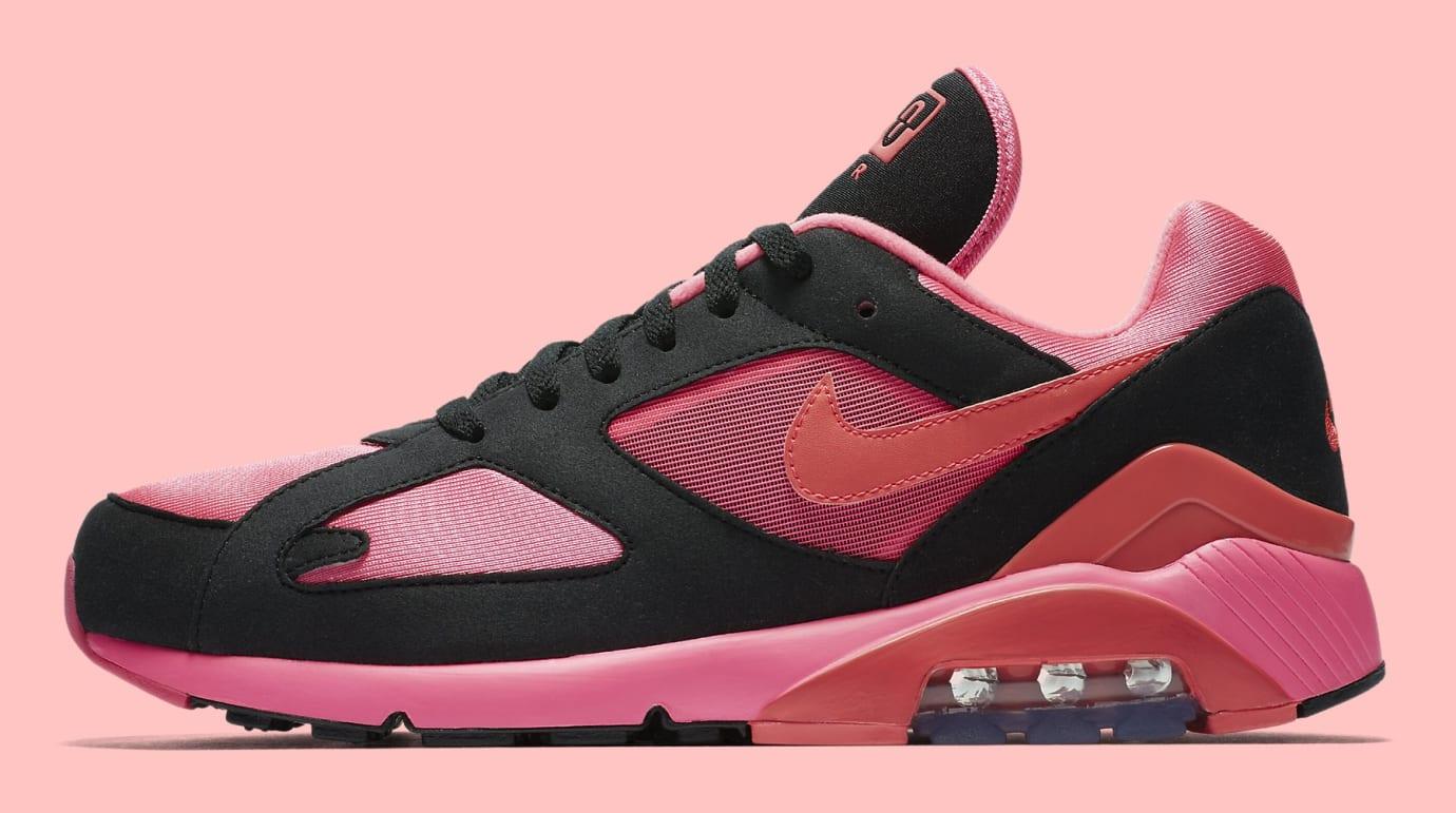 Comme des Garçons x Nike Air Max 180 'Black' AO4641-601 (Lateral)