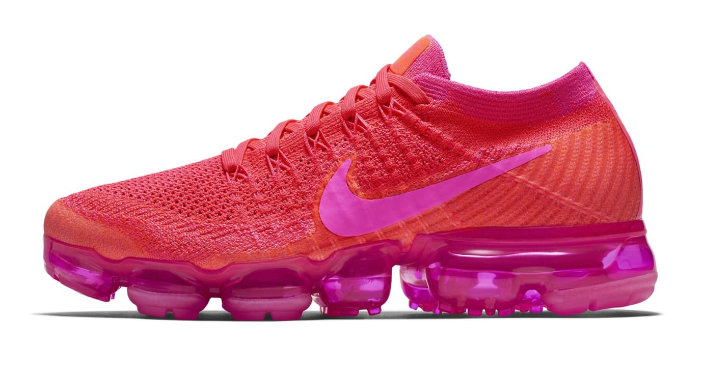 Nike Air Vapormax WMNS Bright Crimson/Hot Pink (Lateral)