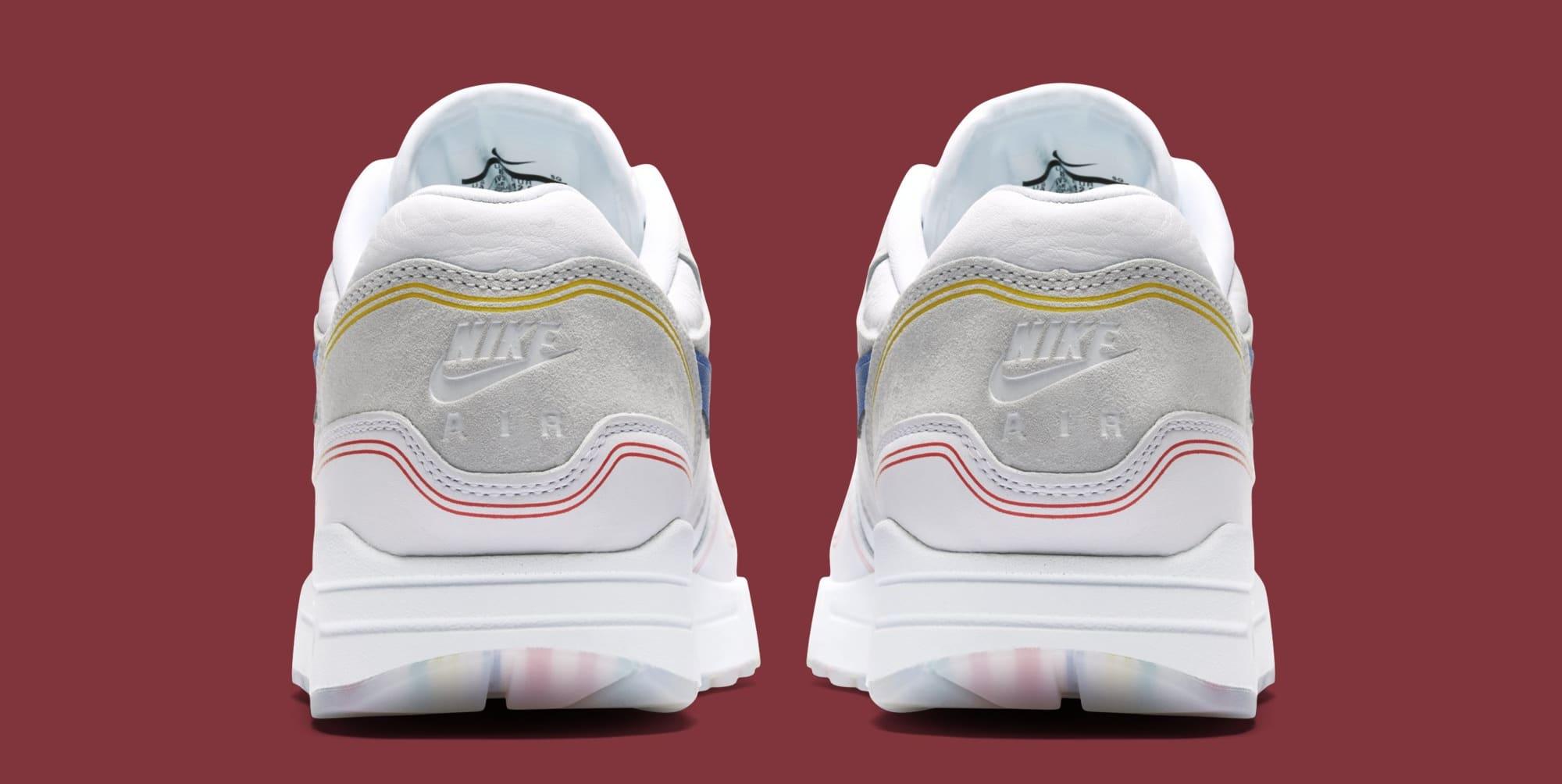 new product c9f81 00795 Image via Nike Nike Air Max 1  Centre Pompidou  Pure Platinum AV3735-002  (Heel)