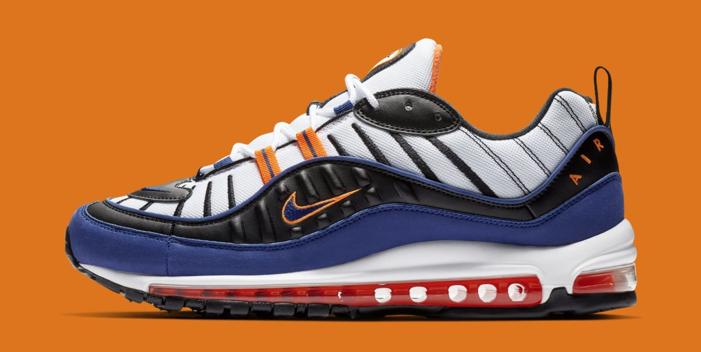 huge discount 26be4 f2ec5 Nike Air Max 98 'White/Deep Royal Blue-Total Orange-Black ...