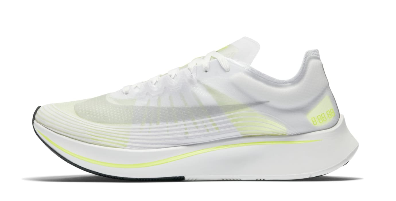 Nike Zoom Fly SP 'White/Volt/Glow' AJ9282-107 (Lateral)