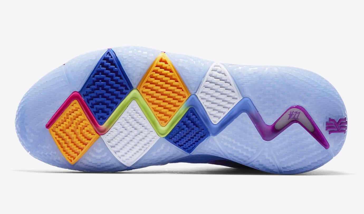 brand new a2710 18116 Nike Kyrie 4 Confetti Multicolor Yellow Purple Release Date 943806-900 Sole