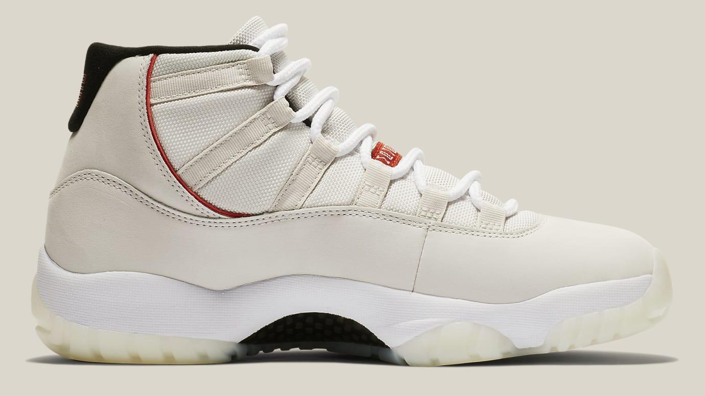 b1d00ccd987734 Image via Nike Air Jordan 11 XI Platinum Tint Release Date 378037-016 Medial