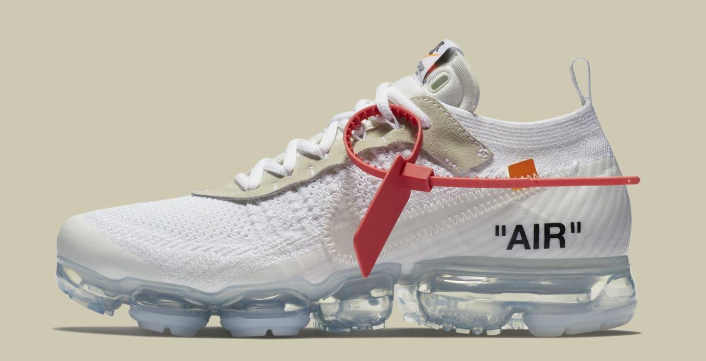Off-White x Nike Air VaporMax 'White/Black/Total Orange' AA3831-100 (Lateral)