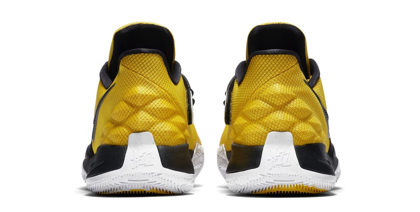 66db82b8199 Image via Nike US11 · Nike Kyrie Low  Amarillo Black  (Heel)