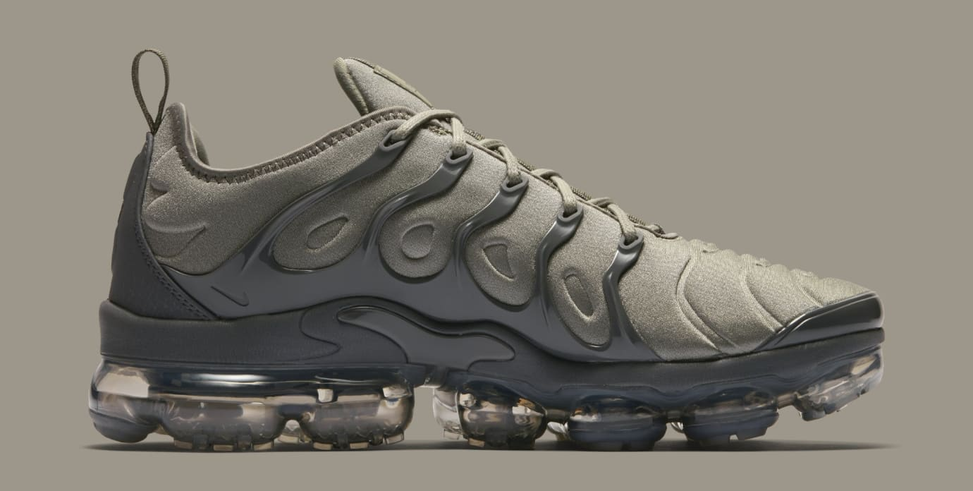 2afeafaf253 Image via Nike Nike VaporMax Plus  Dark Stucco White Dark Grey Anthracite   AT5681-