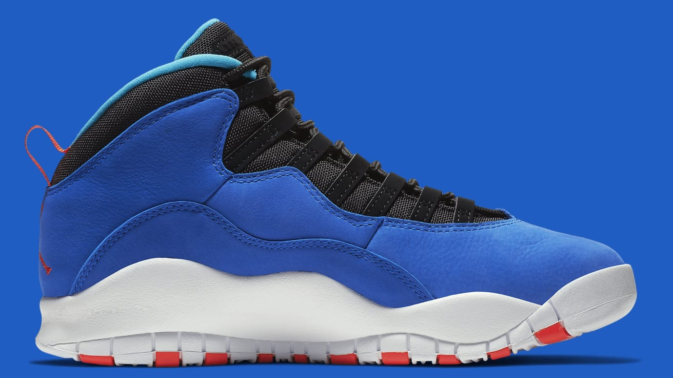 super popular 5321c b0502 Image via Nike Air Jordan 10 X Tinker Huarache Light Release Date  310805-408 Medial
