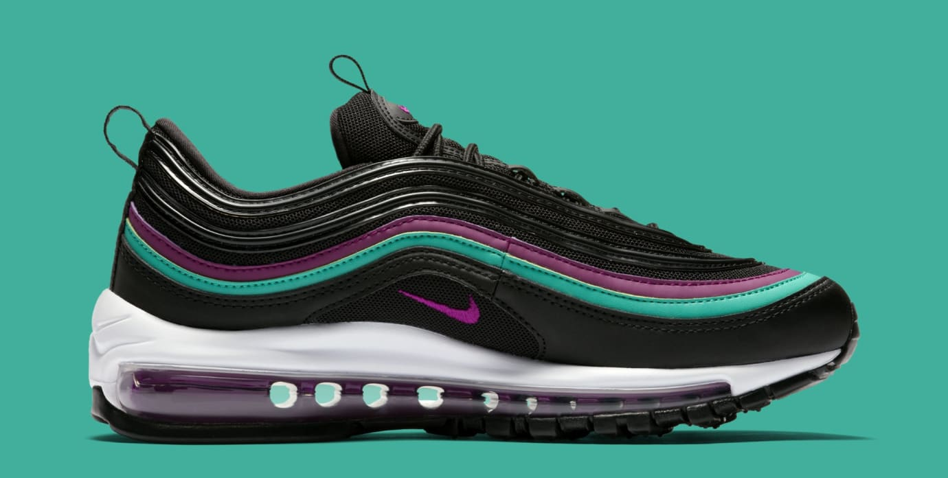Nike Air Max 97 WMNS 'Black/Bright Grape/Clear Emerald' 921733-008 (Medial)