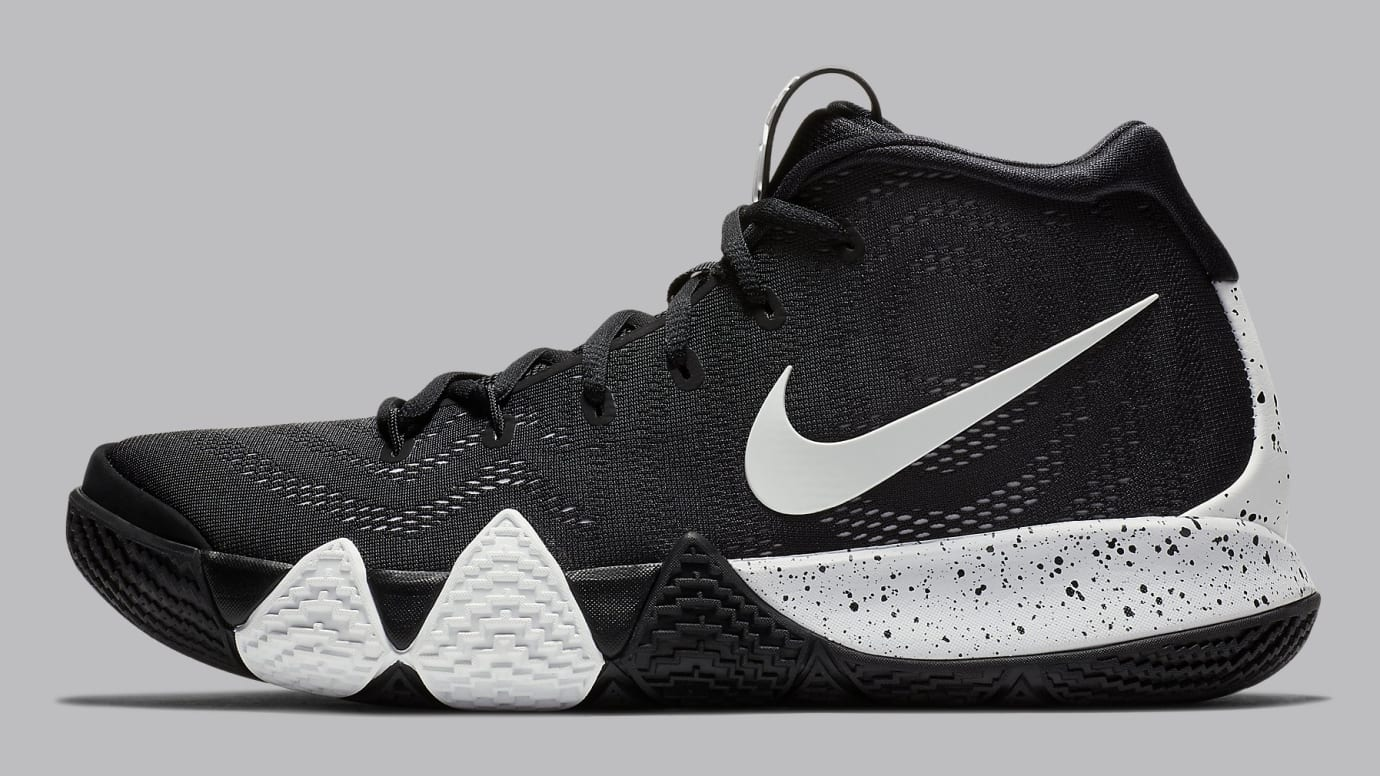 Image via Nike Nike Kyrie 4 TB Black White Release Date AV2296-001 Profile 81173bb29