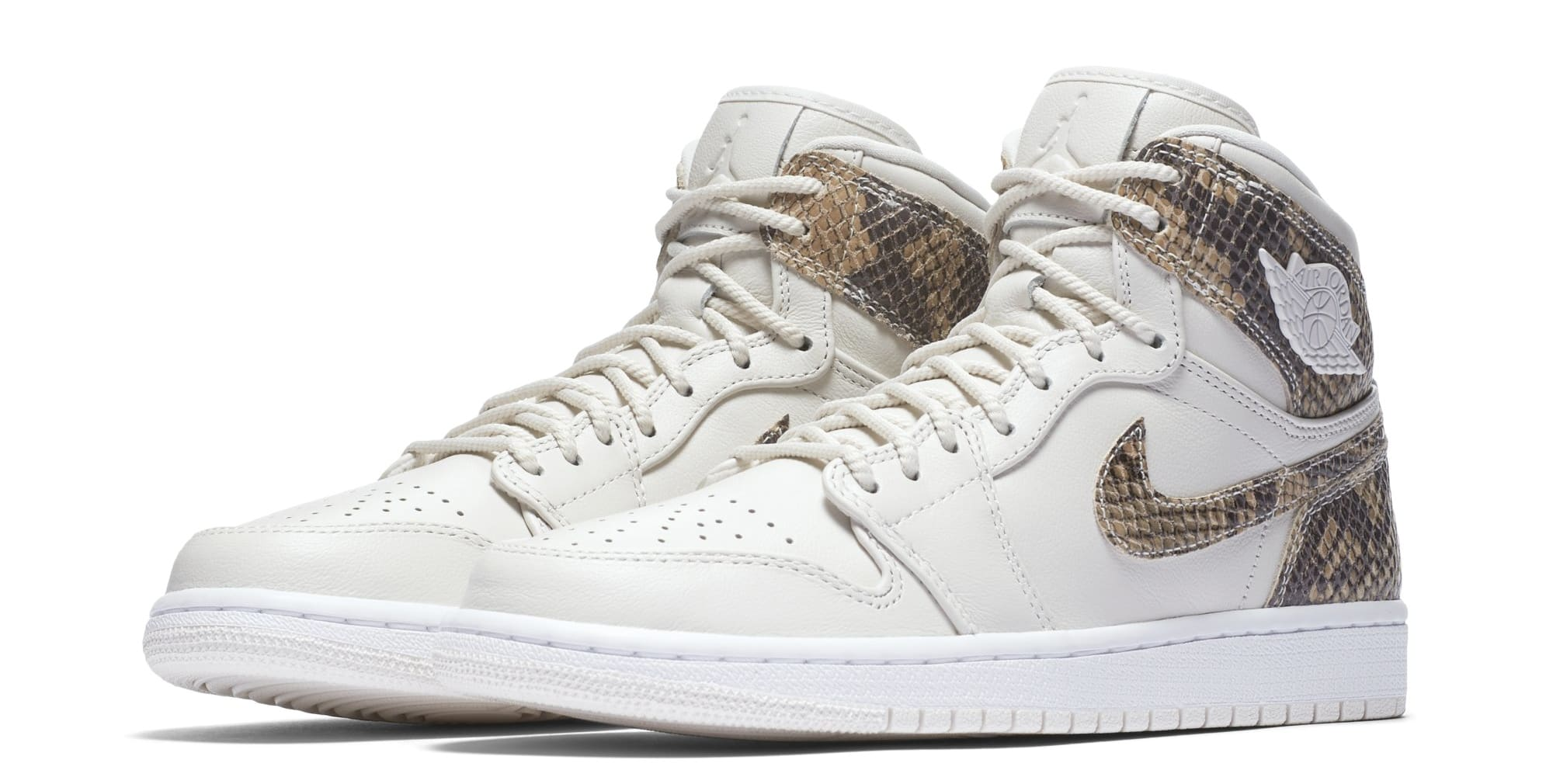 Air Jordan 1 Retro High Premium Women's Snake 'Phantom/White' AH7389-004 (Pair)
