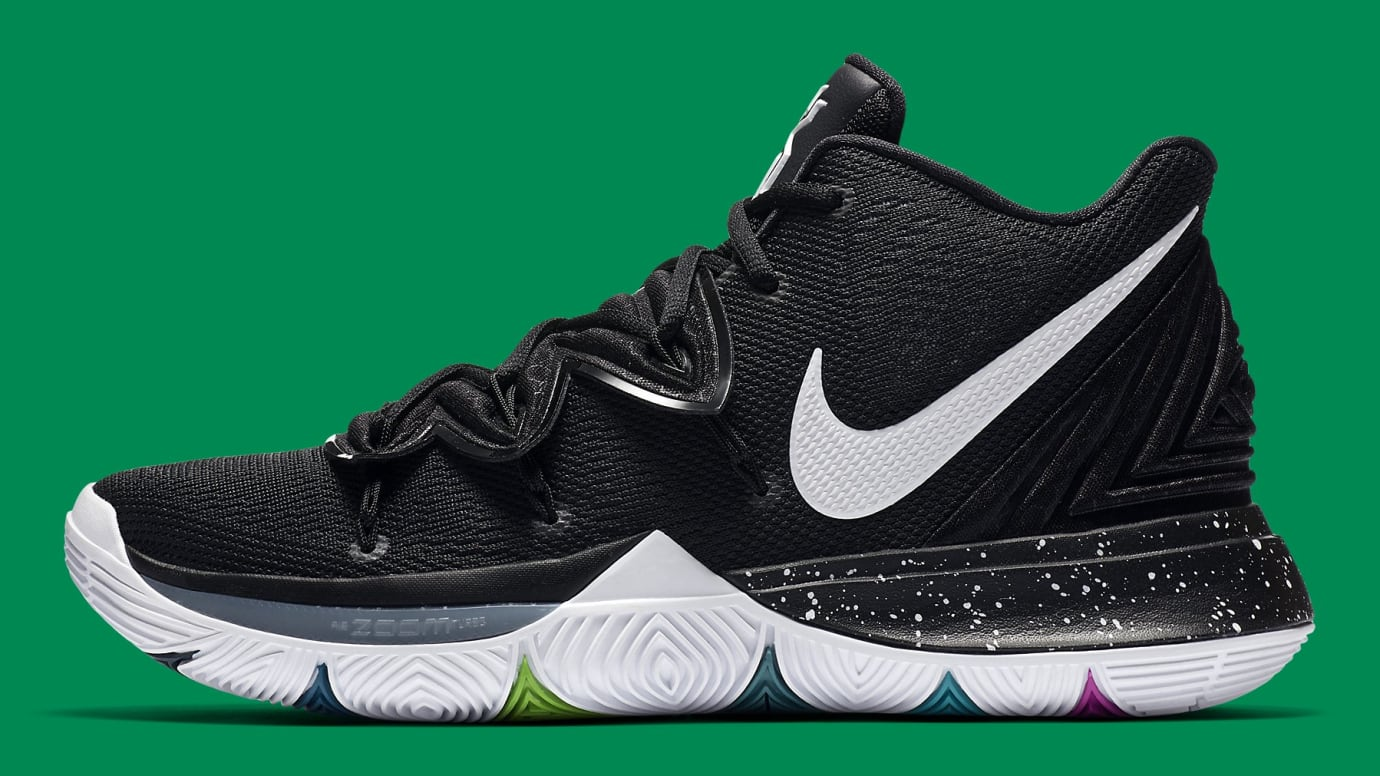 buy online c4016 5342e Nike Kyrie 5 Black Magic Release Date AO2918-901 Profile