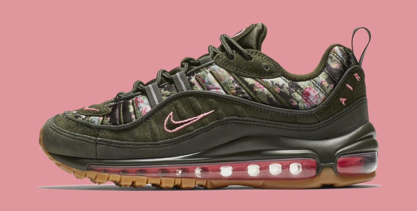 on sale 612f3 c6520 WMNS Nike Air Max 98 Floral Camo AQ6498-300 (Lateral)