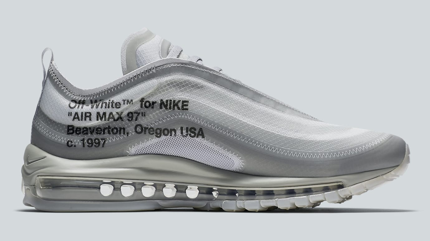 newest collection b3243 ce803 Image via Nike Off-White x Nike Air Max 97 Off-White Wolf Grey White Menta  Release