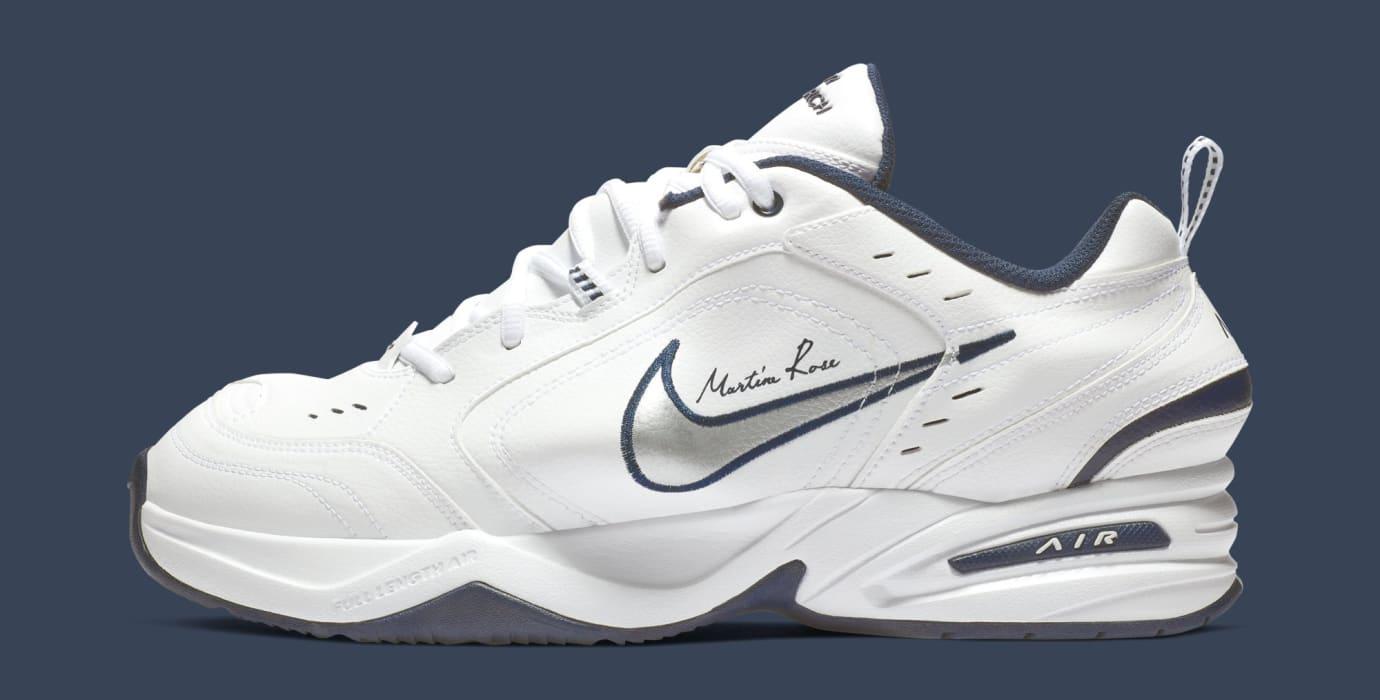 342b0a3877bb6a Image via Nike Martine Rose x Nike Air Monarch 4  White  AT3147-100  (Lateral)