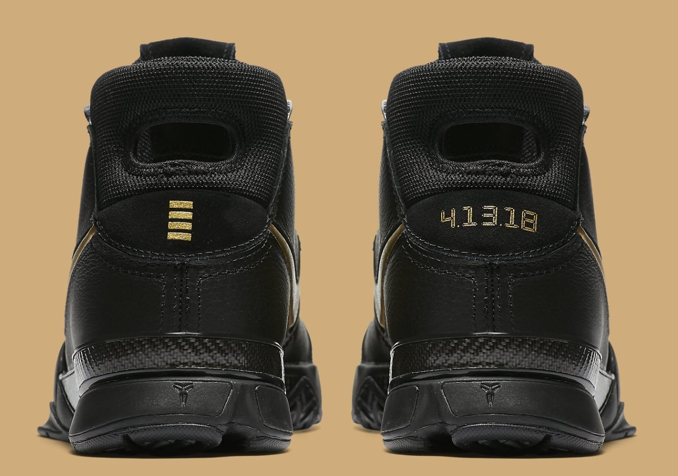 8889a0b6fd16 Image via Nike Nike Kobe 1 Protro  Mamba Day  AQ2728-002 (Heel)