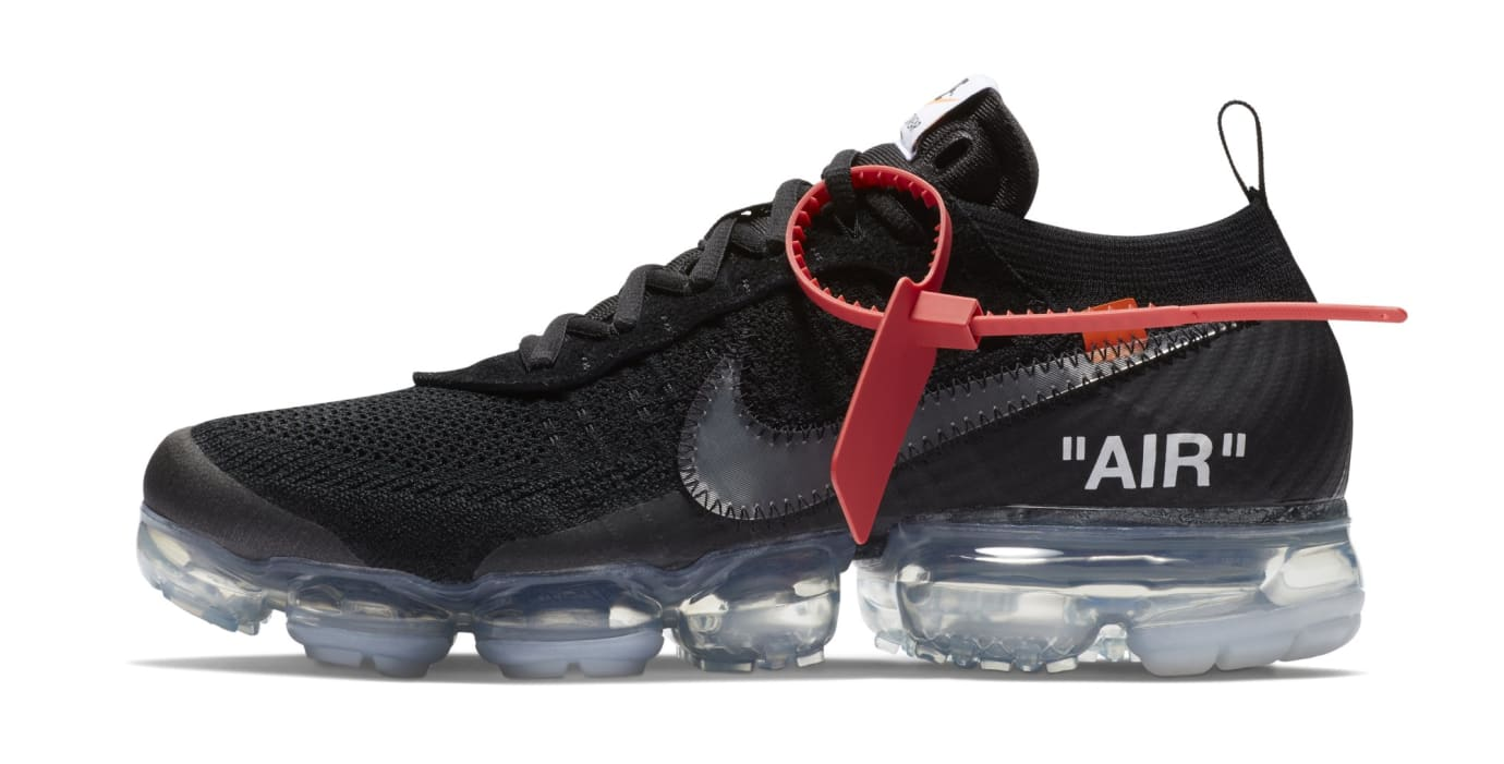 Off-White x Nike Air VaporMax 'Black' AA3831-002 (Lateral)