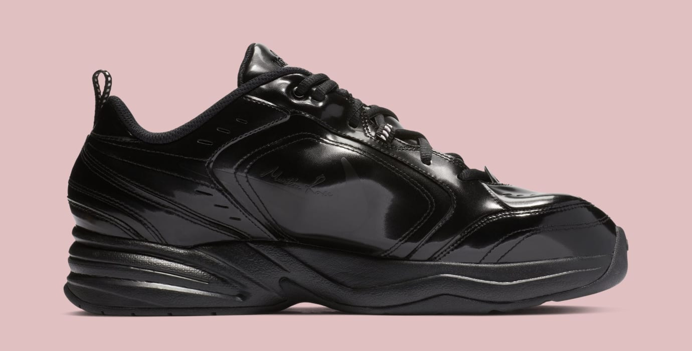 purchase cheap dc69a 72565 Image via Nike Martine Rose x Nike Air Monarch 4  Black  AT3147-001 (Medial)