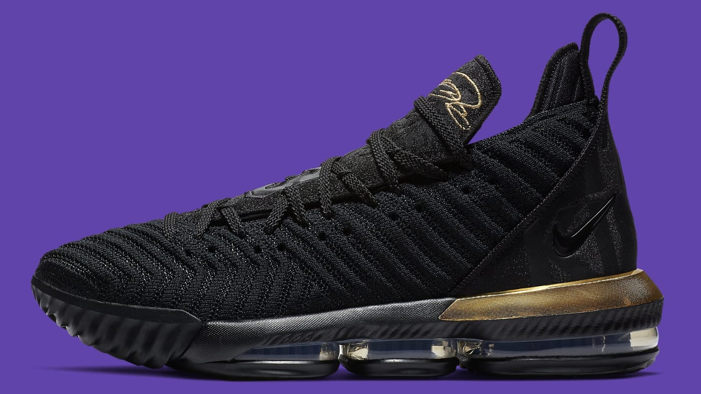 32253a313044 Nike LeBron 16  I m King  Black Metallic Gold-Black BQ5970-007 ...