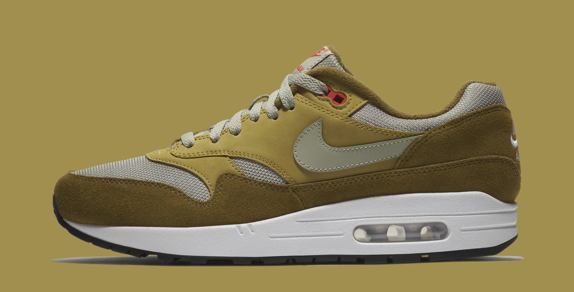 Atmos x Nike Air Max 1 'Green Curry' 908366-300 (Lateral)