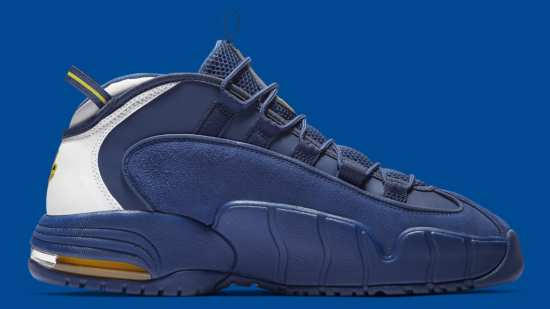 8634007616 Image via Nike Nike Air Max Penny 1 Warriors Release Date 685153-401 Medial
