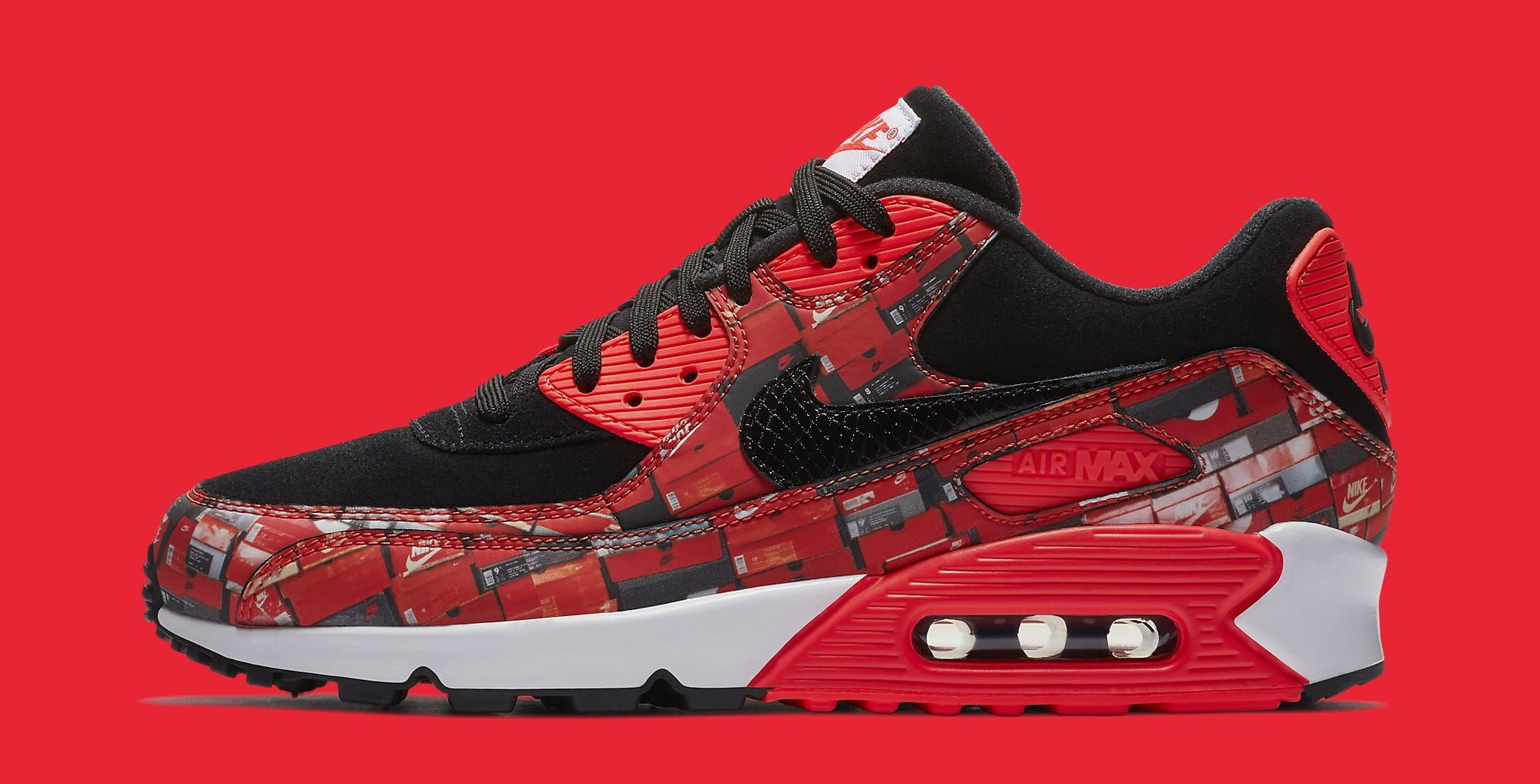 Atmos x Nike Air Max 90 'Infrared/We Love Nike' AQ0926-001 (Lateral)