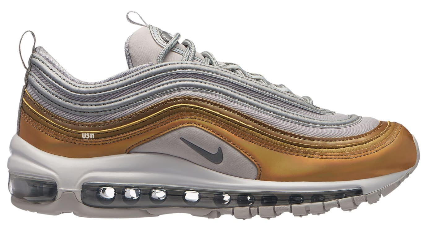 Nike Air Max 97 SE 'Vast Grey/Metallic Silver/Metallic Gold' (Lateral)
