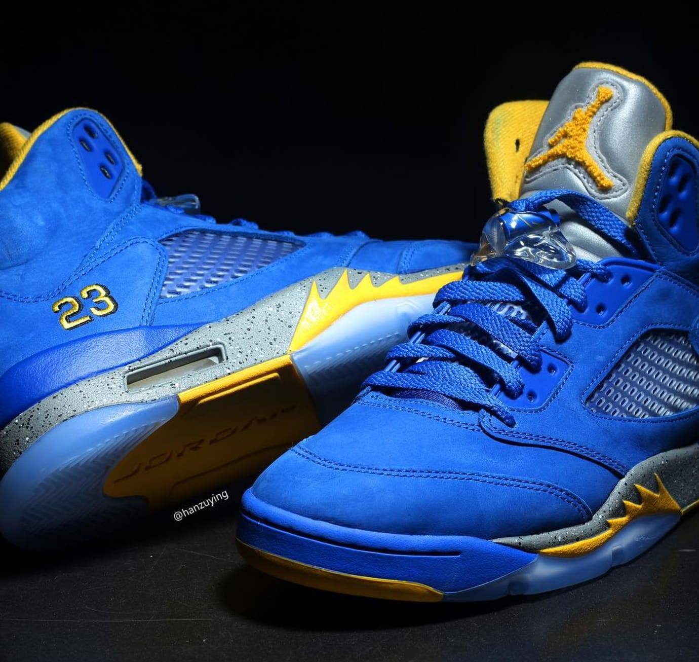 4e5fd4aaa9ef Image via Instagram   hanzuying Air Jordan 4 JSP  Laney  Varsity Royal  CS2720-400