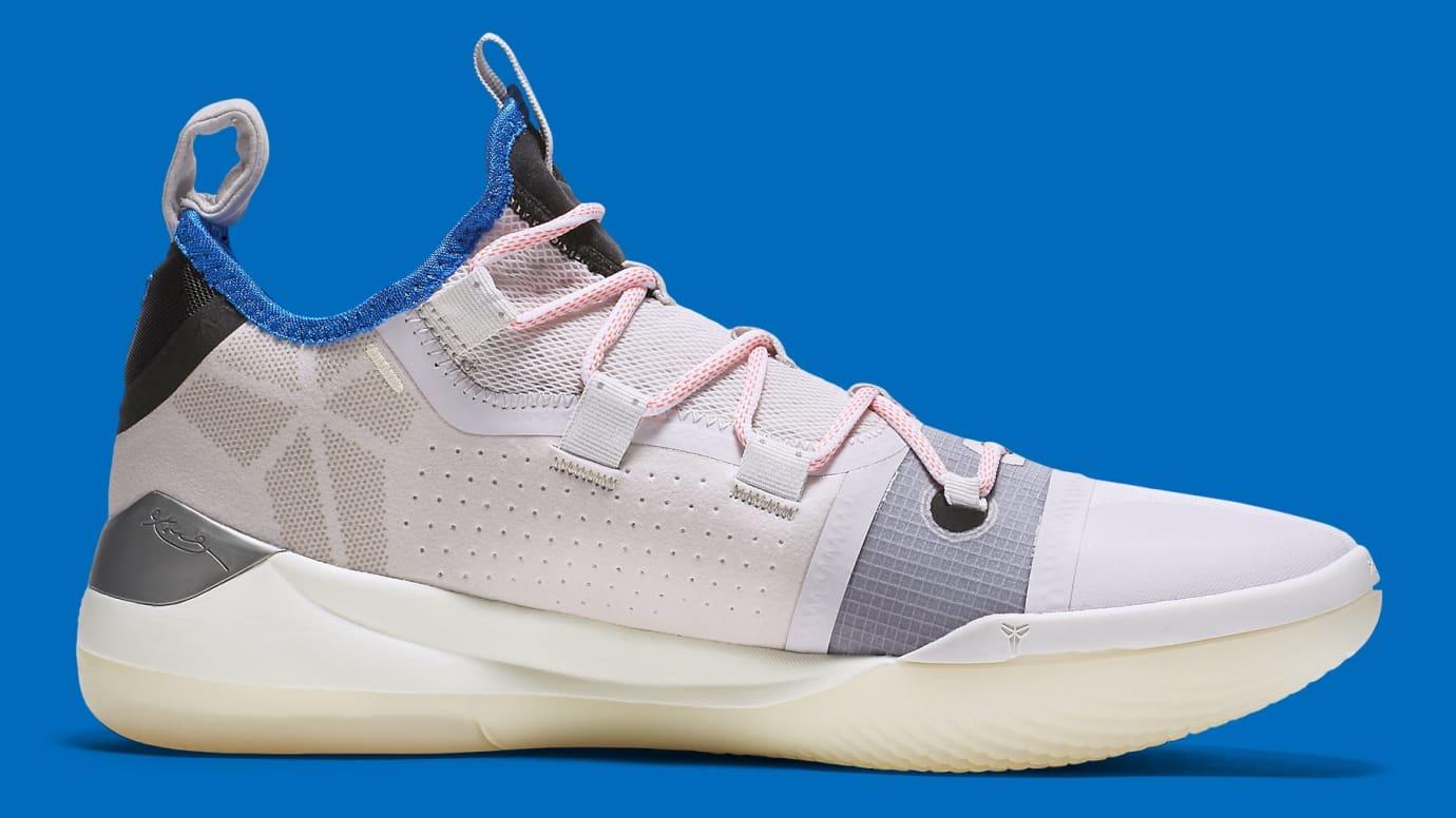 a0be2e4b5213 Image via Nike Nike Kobe A.D. White Pink Blue Release Date AV3555-004 Medial