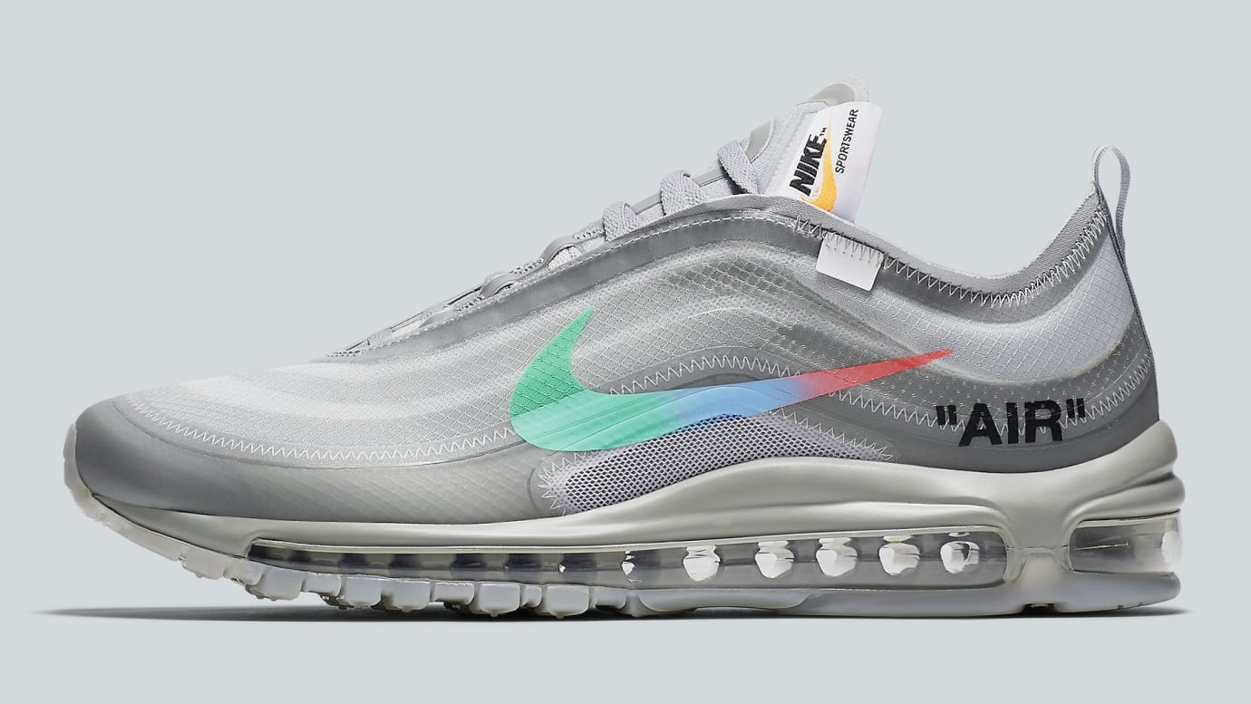 sneakers for cheap b319a 6987f Off-White x Nike Air Max 97 Off-White Wolf Grey White Menta Release