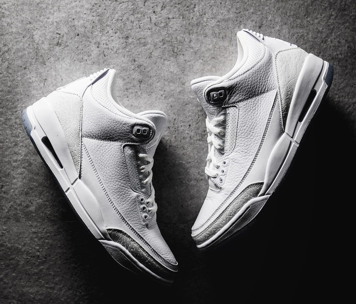 14abfe4f43b Image via Nike Air Jordan 3  Pure White  136064-111 (Pair)