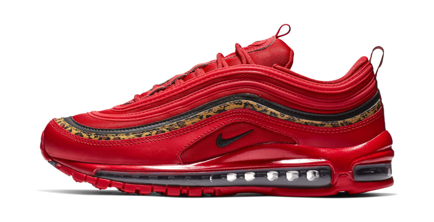 Nike Air Max 97 'Red/Leopard' (Lateral)