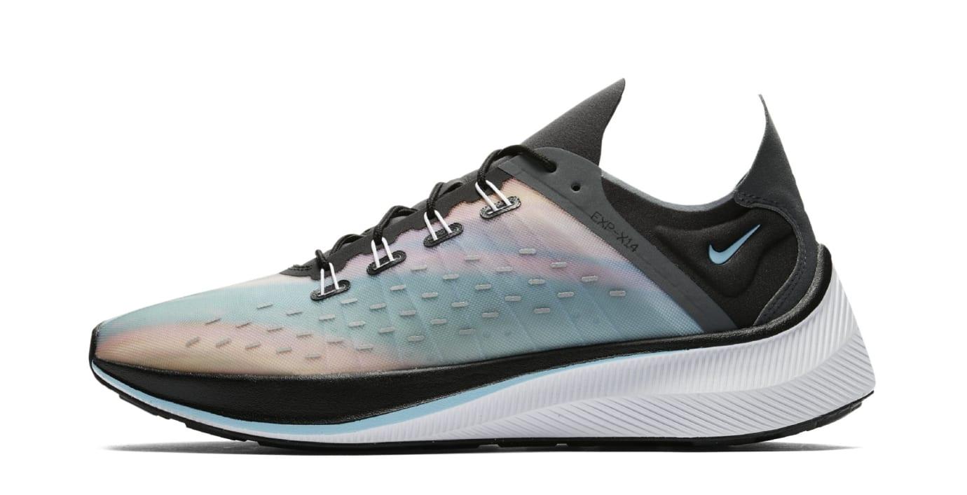 Nike EXP-X14 QS 'Black/Wolf Grey/Dark Grey/Blue Chill' BQ6972-001 (Lateral)