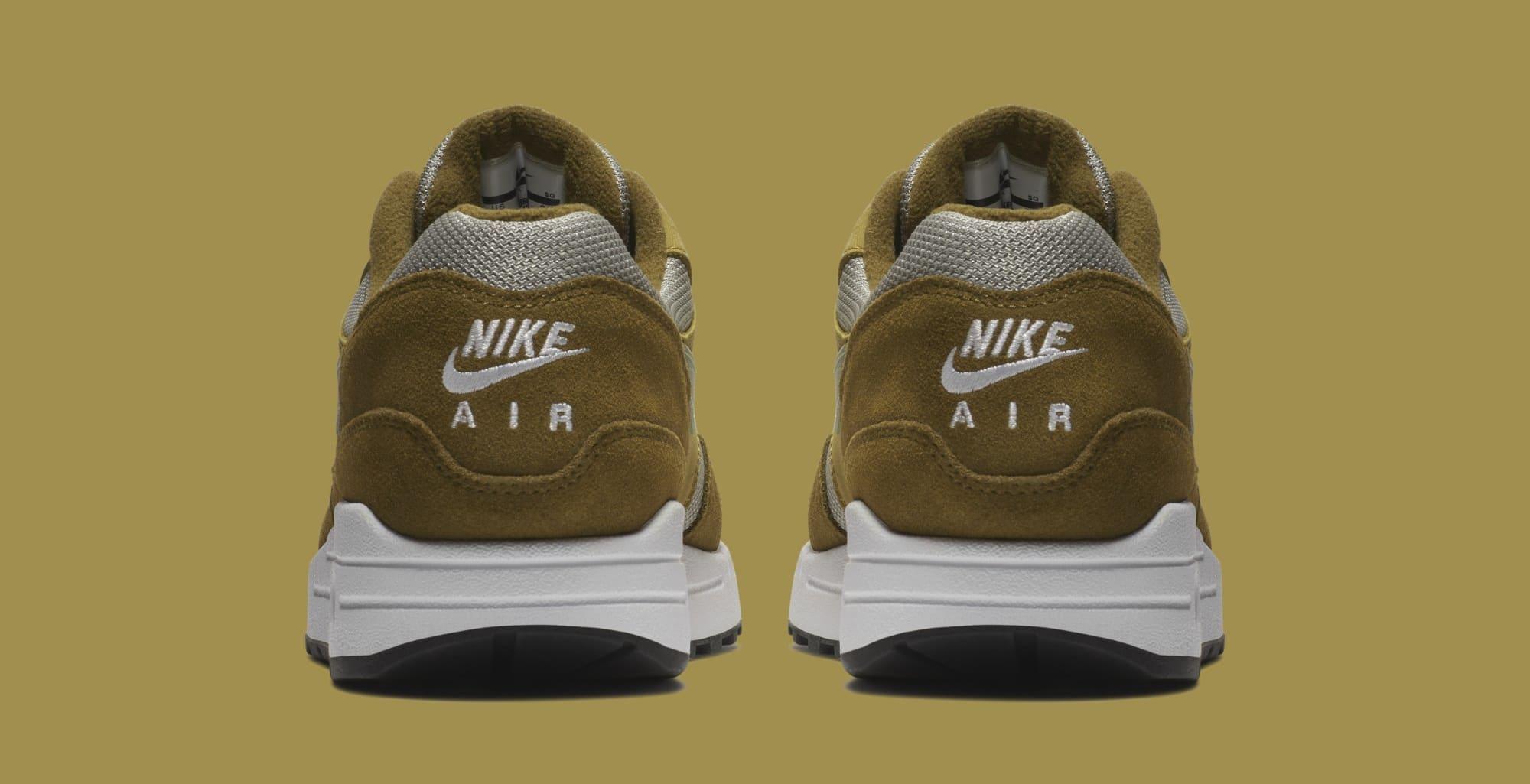Atmos x Nike Air Max 1 'Green Curry' 908366-300 (Heel)