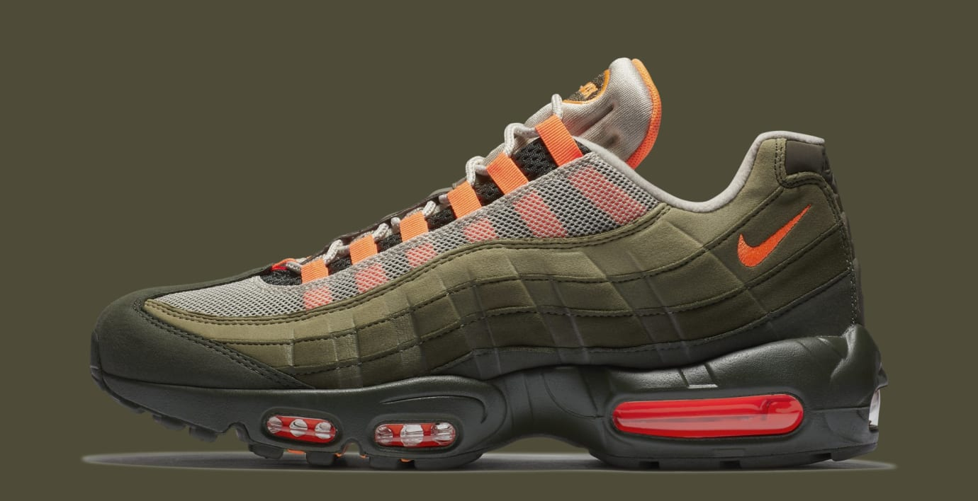 low priced 2656b 0f017 Nike Air Max 95 OG  String Total Orange Neutral Olive  AT2865-