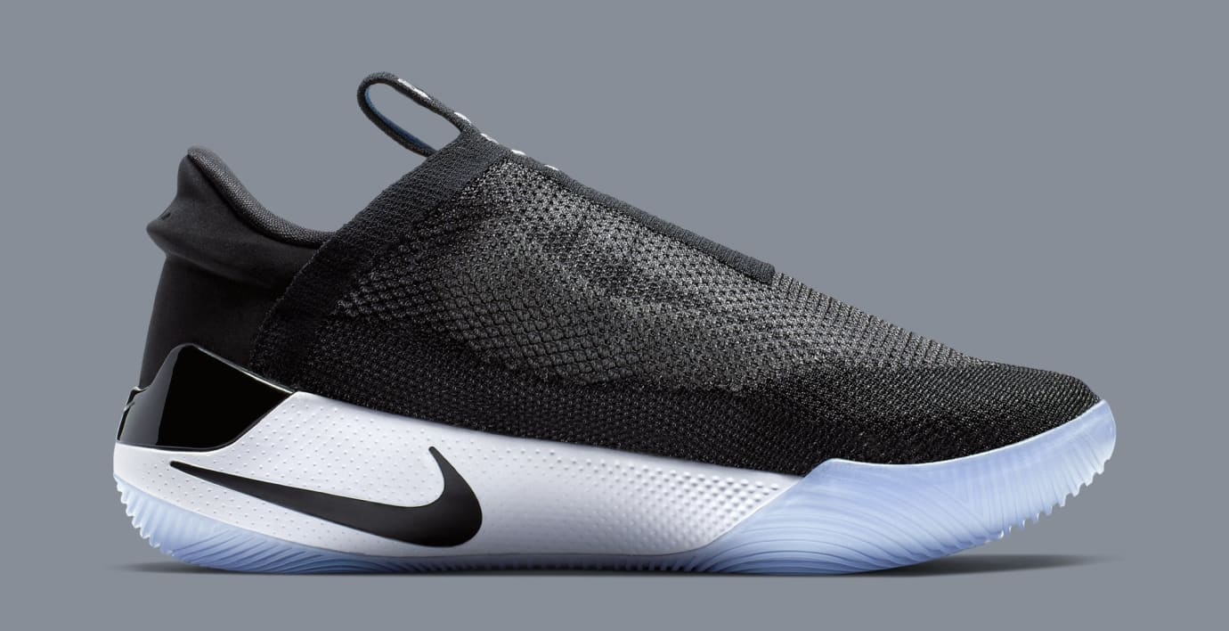 f5861fbefde Image via Nike Nike Adapt BB  Black White Pure Platinum  AO2582-001 (Medial