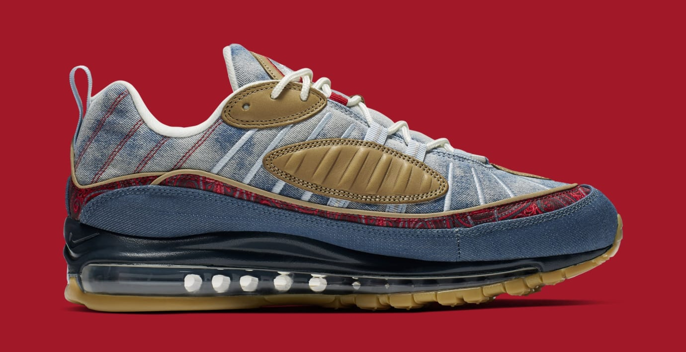 Nike Air Max 98 'Wild West' Light Armory/University Red BV6045-400 (Medial)