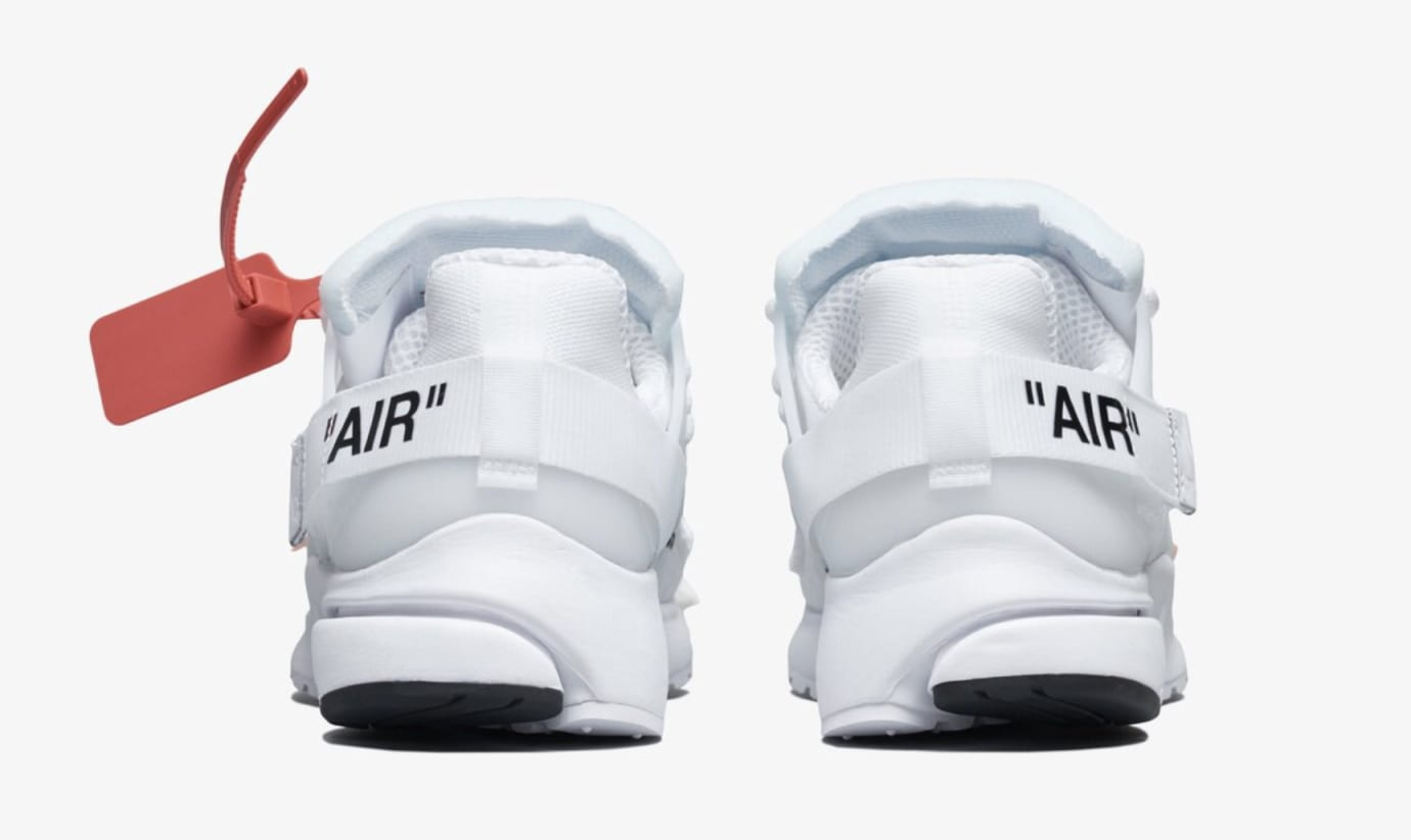 Off-White x Nike Air Presto 'Polar Opposites/White' AA3830-100 (Heel)