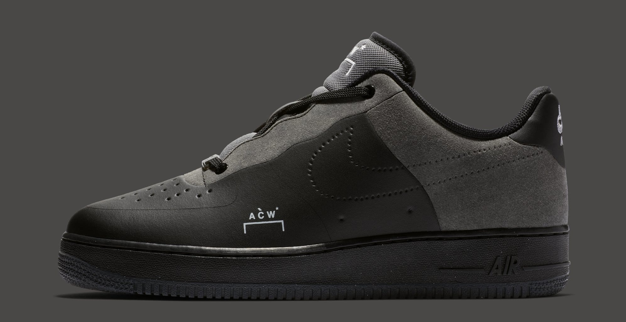 A-Cold-Wall* x Nike Air Force 1 Low 'Black/Dark Grey-White' BQ6924-001 (Lateral)