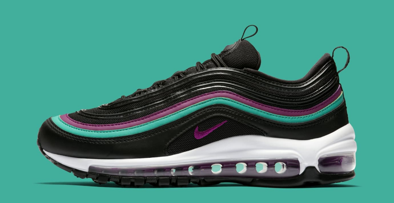Nike Air Max 97 WMNS 'Black/Bright Grape/Clear Emerald' 921733-008 (Lateral)
