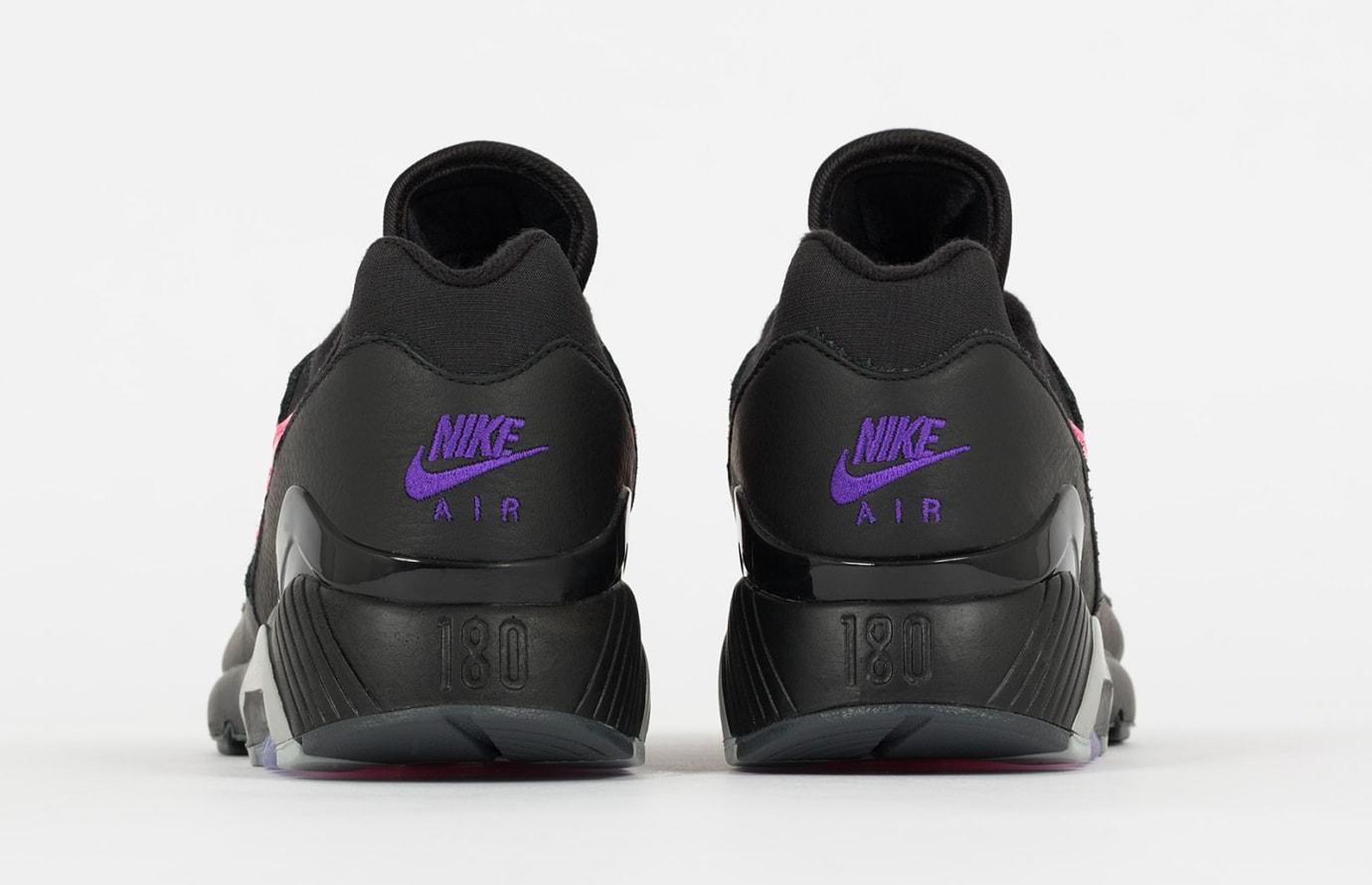 Nike Air Max 180 'Black/Pink Blast-Wolf Grey' AQ9974-001 (Heel)