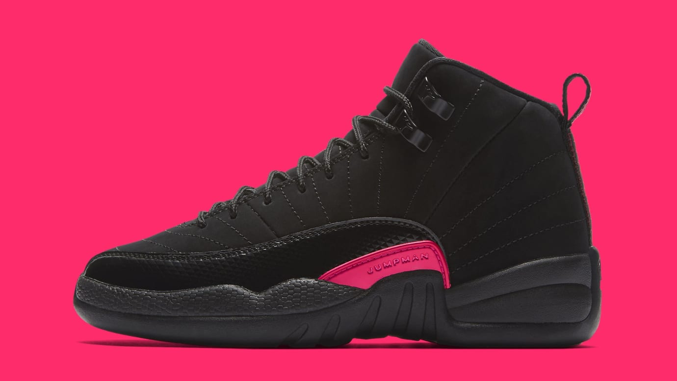 Air Jordan 12 Retro GG  Black Dark Grey-Rush Pink  510815-006 ... f024ef4bb