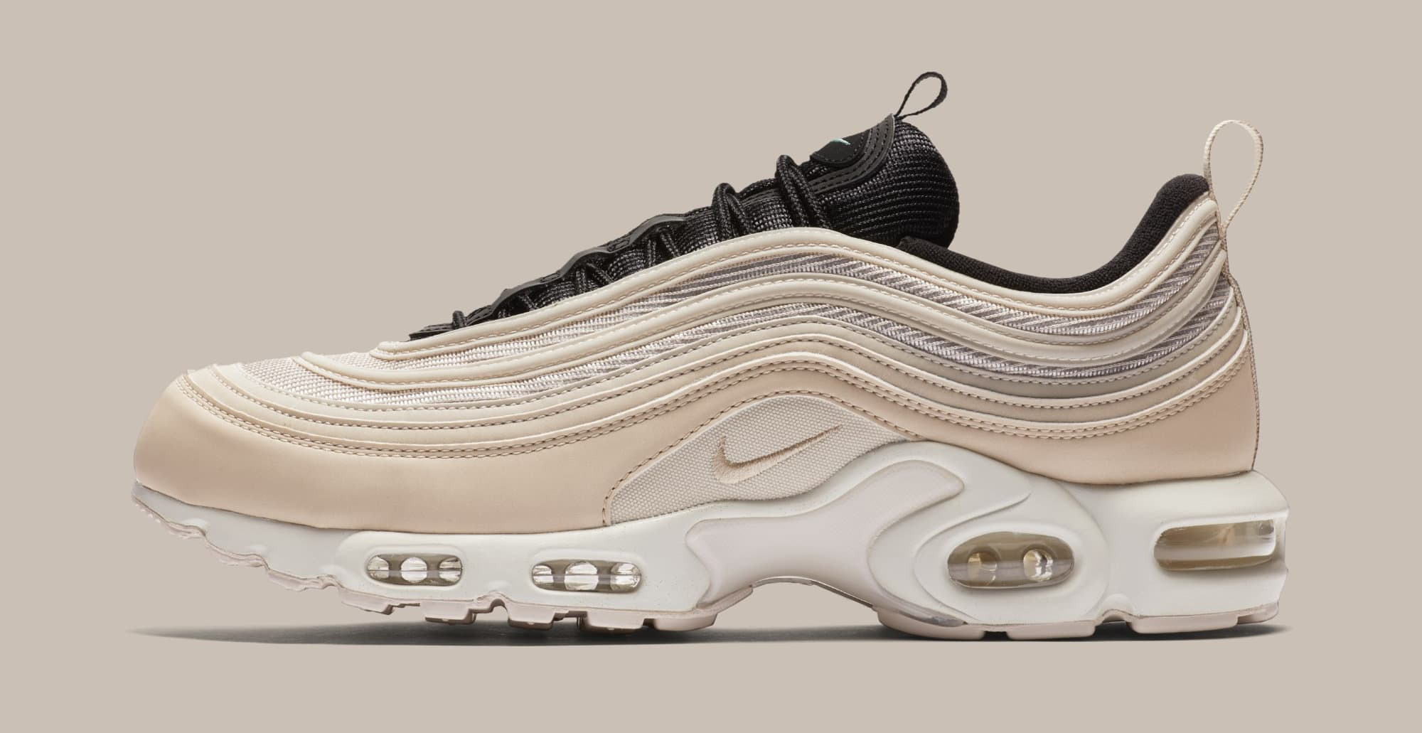 the latest 3d195 8bd0f Image via Nike Nike Air Max Plus/97 'Light Orewood Brown' AH8143-100  (Lateral