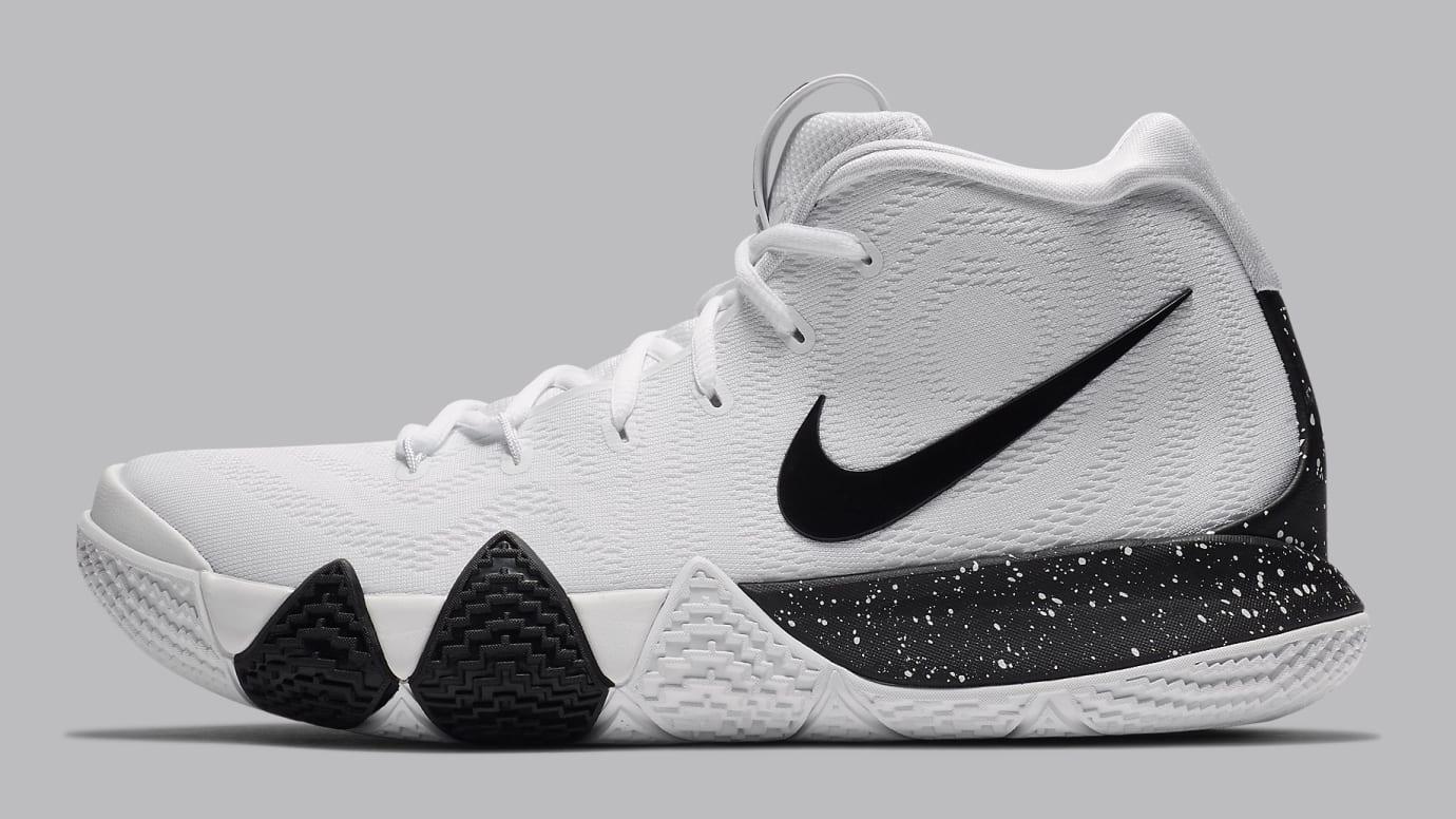 d9a9d231400 Image via Nike Nike Kyrie 4 White Black Release Date AV2296-100 Profile
